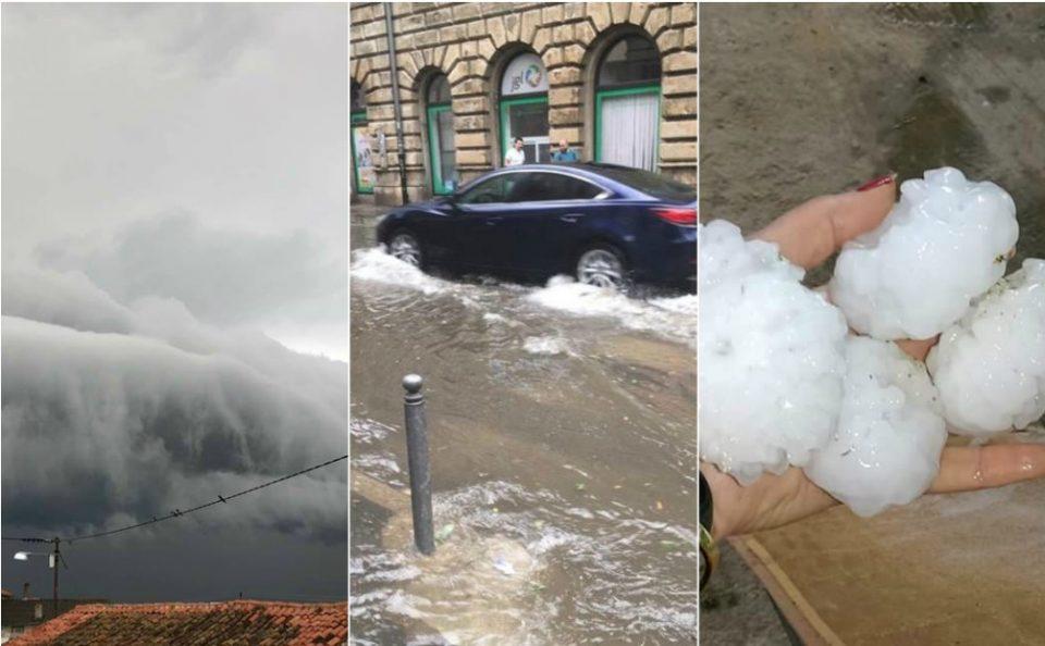 Силно невреме и во регионот: Поројните дождови и градот предизвикаа хаос во Словенија и Хрватска (ФОТО+ВИДЕО)