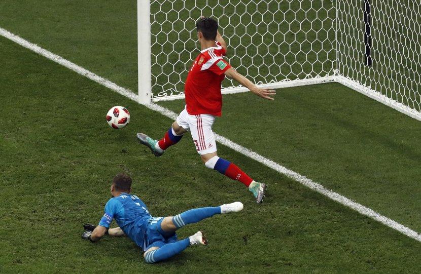 """Вака изгледа ногата на рускиот фудбалер по мечот со Хрватска- """"Не можете да речете дека не дадоа се од себе"""" (ФОТО)"""
