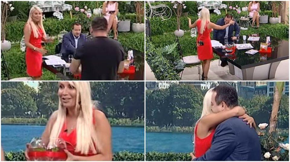 Водителката му се фрли во прегратки среде емисија во живо- кога ќе видите што и подари Ивица Дачиќ за роденден се ќе ви стане јасно (ВИДЕО)