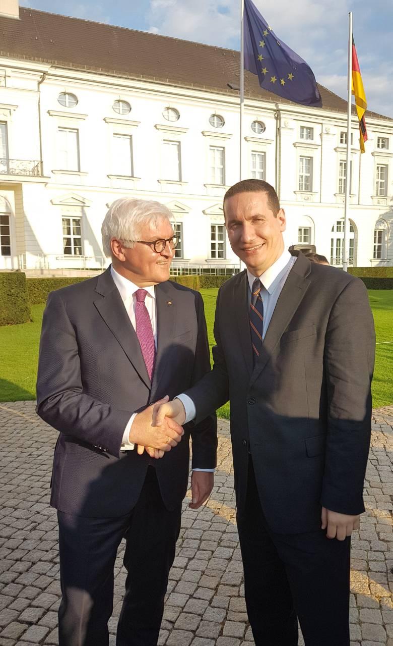 Ѓорчев се сретна со претседателот на Германија, Штајнмаер и повеќе германски пратеници во Бундестагот