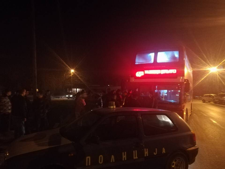 Каменуван автобус на ЈСП- пет лица завршија во полициска станица