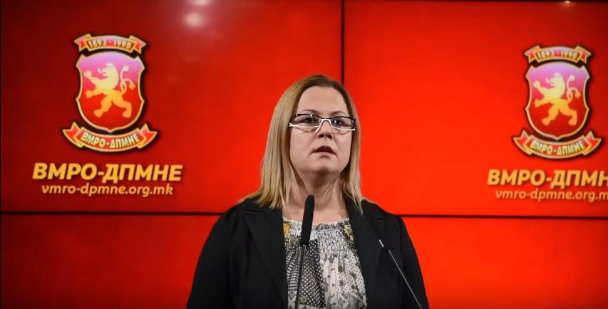 Стојановска: Заев го прекрши законот затоа што го изгласа прашањето во парламент без законот да биде објавен во службен весник