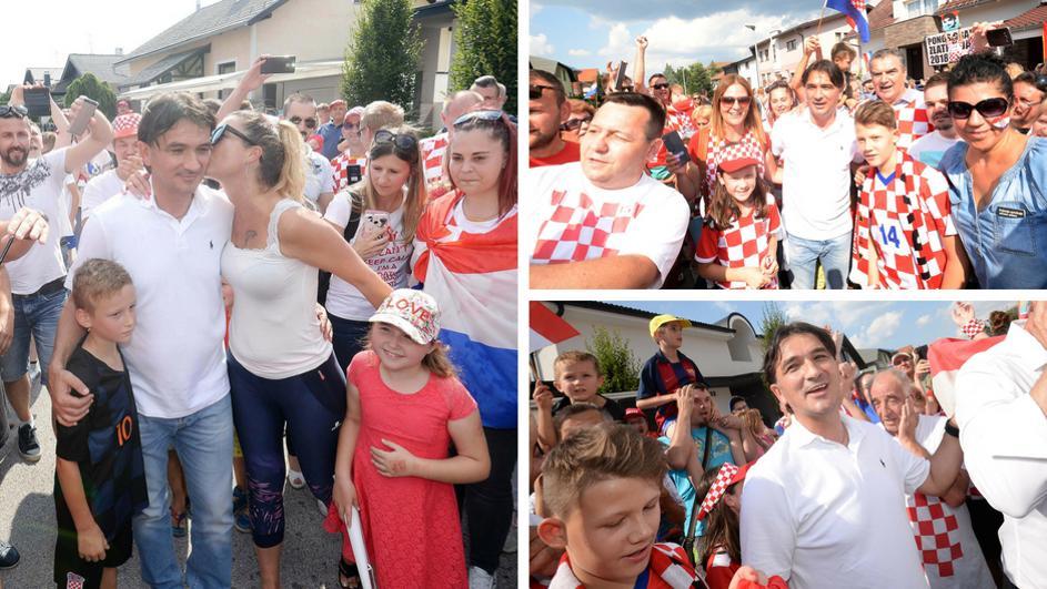 Голем број луѓе и журка пред домот на хрватскиот селектор: Погледнете како херојот Далиќ беше пречекан во Вараждин (ФОТО+ВИДЕО)