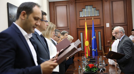 Членовите на ДИК дадоа свечени изјави