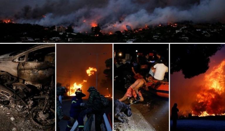 """""""Не се гледа крајот на трагедијата"""": Најмалку 60 загинати во пожарите во Грција, народот преживува голгота! (ФОТО)"""