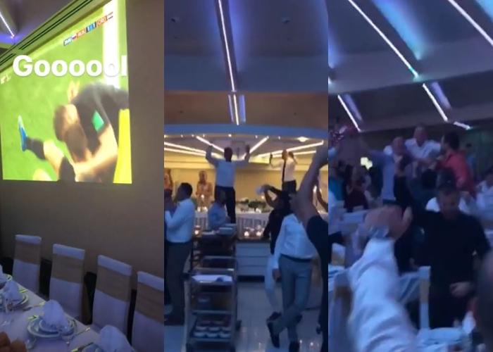 """Ја прекинаа свадбата, а по победата го """"запалија"""" ресторанот- Ова е најлудата хрватска свадба за време на СП (ВИДЕО)"""
