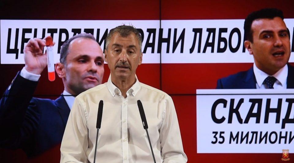 Камиловски: Власта и министерот за здравство итно да го раскинат договорот со човек фирма за скандалот од 35 милиони евра