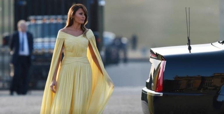 Никогаш не била поубава: Меланија заблеска во раскошен фустан достоен за кралица (ФОТО)