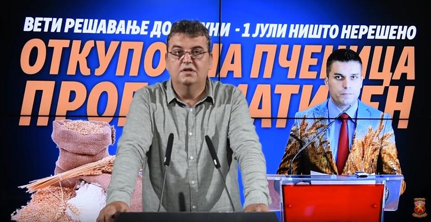 Јакимовски: Земјоделците не се должни да ја плаќаат неспособноста на Николовски и неговата желба за министерување