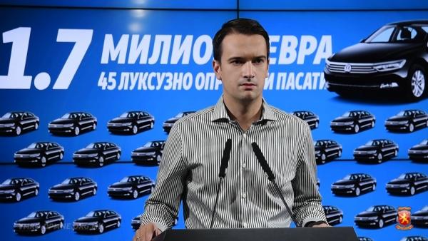 Нелоски: Додека економијата стагнира и бележиме најмал раст во регионот и во Европа, Зоран Заев двои милиони евра за набавка на луксузни лимузини