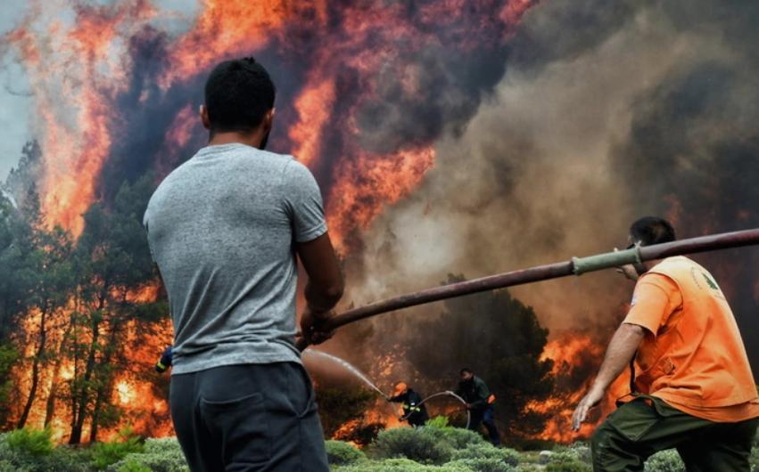 Уапсени четири лица поради подметнување на пожар кај Атина, се криеле во напуштена куќа
