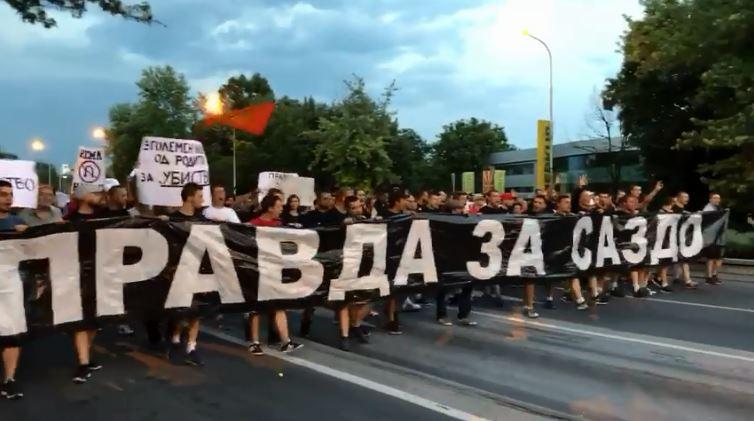 """""""Комити"""" го почнаа протестниот марш, бараат правда за Саздовски"""
