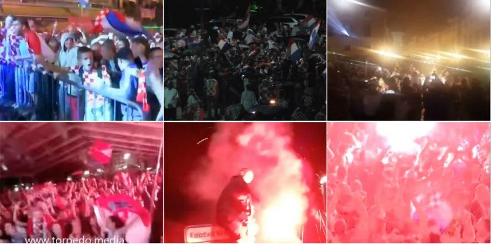 ХРВАТСКА ВО ДЕЛИРИУМ: Погледнете како низ целата земја се славеше историскиот успех на нивните фудбалери (ВИДЕО)