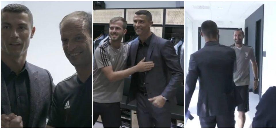 Роналдо денот во Торино продолжува: Јувентус објави ново ексклузивно видео- Кристијано се запозна со соиграчите (ВИДЕО)