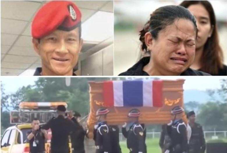 Испраќање на тајландскиот херој: Загина помагајќи им на заробените дечиња, последните пораки на татко му и сопругата го кршат срцето