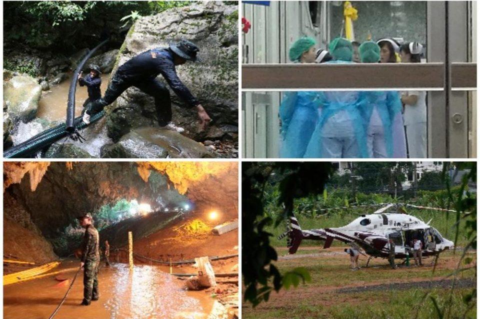 Драматичната акција за спасување во Тајланд низ фотографии: Погледнете како четирите деца дојдоа до слобода (ФОТО ГАЛЕРИЈА)