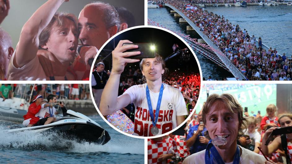 Чудесни фотографии: Најдобрите моменти од спектакуларниот пречек на Модриќ и соиграчите во Задар (ФОТО ГАЛЕРИЈА)