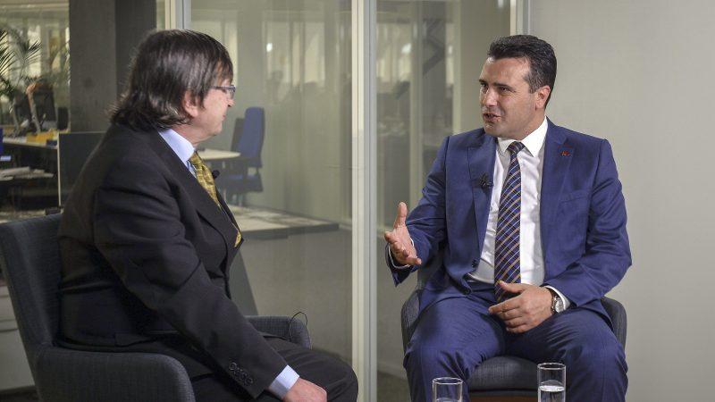 """Интервју за бриселски """"Еуроактив"""": Заев претставен како премиер на Република Северна Македонија"""