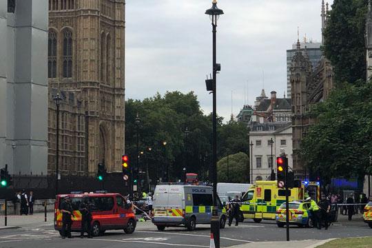Повредени пешаци, уапсен маж: Автомобил удри во оградата пред британскиот Парламент