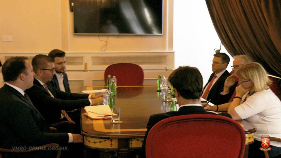 Мицкоски оствари средба со Директорот на Директоратот за проширување во Европската Комисија Кристијан Даниелсон