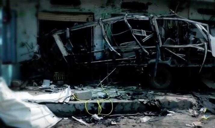 ВОЗНЕМИРУВАЧКО ВИДЕО: Проектил погоди автобус полн со деца, 50 загинати