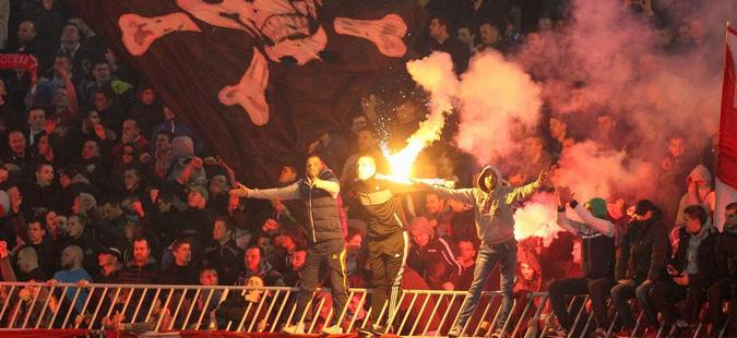 """""""Делиите"""" направија големи проблеми за својот клуб: Драконска казна од УЕФА за Црвена Ѕвезда"""