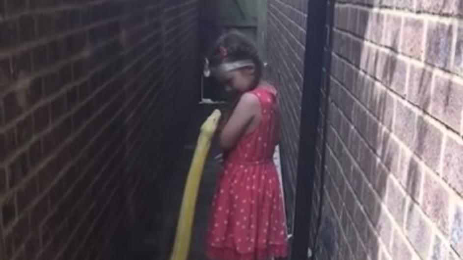 Многумина не веруваат што направи: Питон се движеше зад 5 годишно девојче, а таа се сврти и го погали (ВИДЕО)