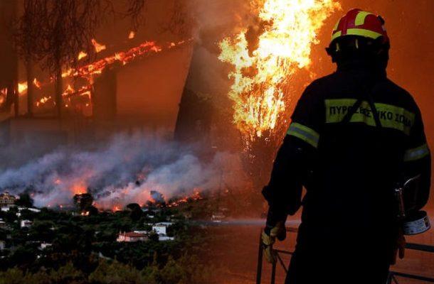 Предупредување до граѓаните: Повторно драма во Грција- изби нов пожар на Атика (ФОТО+ВИДЕО)