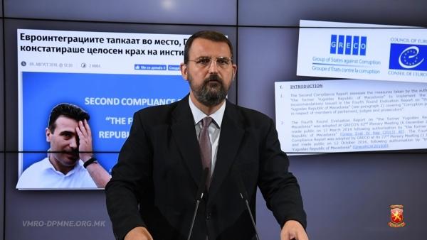Стоилковски: Македонија е претворена во дувло на криминалот и корупцијата, а тоа доби потврда и од ГРЕКО