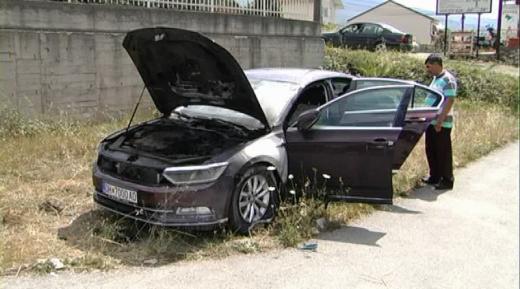 Монтирана експлозивна направа: Запален автомобилот на висок функционер на ВМРО – ДПМНЕ во Охрид