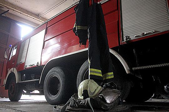 Опожарена шупа во Скопје