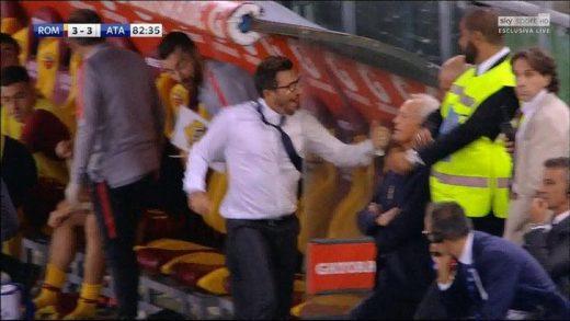 Итно на операција: Тренерот на Рома си ја скршил раката по прославата на израмнувачкиот гол (ВИДЕО)