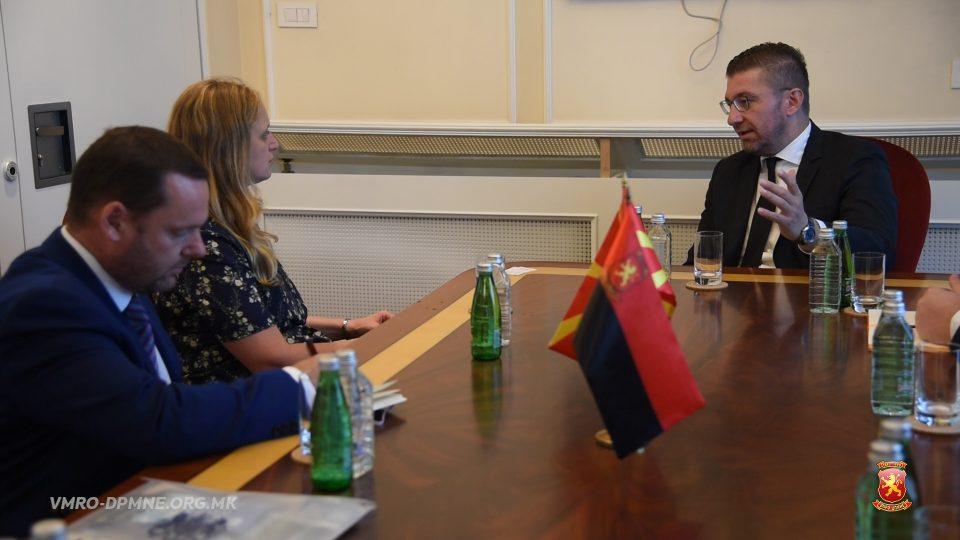 Мицкоски оствари средба со амбасадорката на Обединетото Кралство на Велика Британија и Северна Ирска, Галовеј