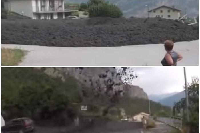 Настана вистински хаос: Ужасна снимка од Швајцарија- црна маса одеднаш затрупа планинско село (ВИДЕО)