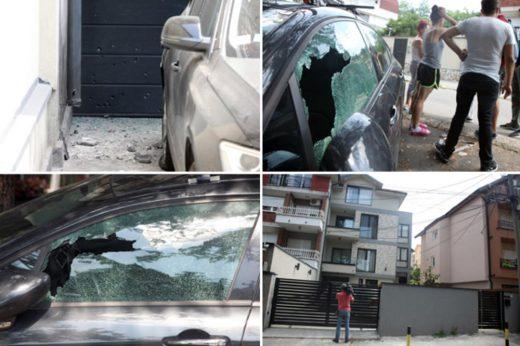 Џип во пламен: Фрлена бомба на автомобилот на познат кошаркар