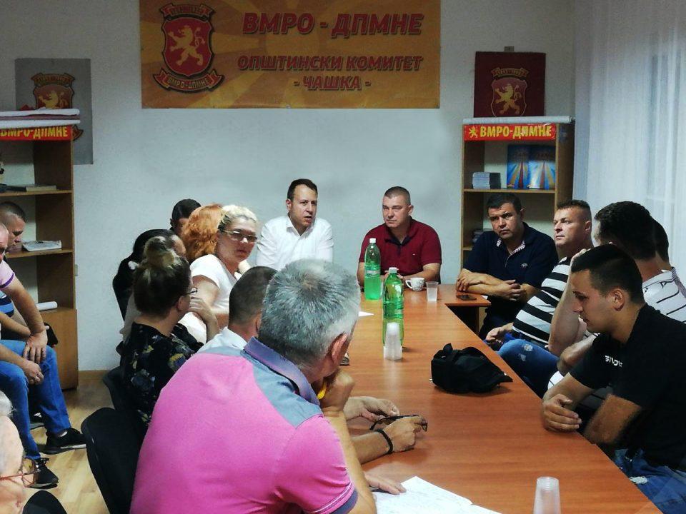 ФОТО: Јанушев во посета на Чашка, граѓаните разочарани од политиките на СДСМ