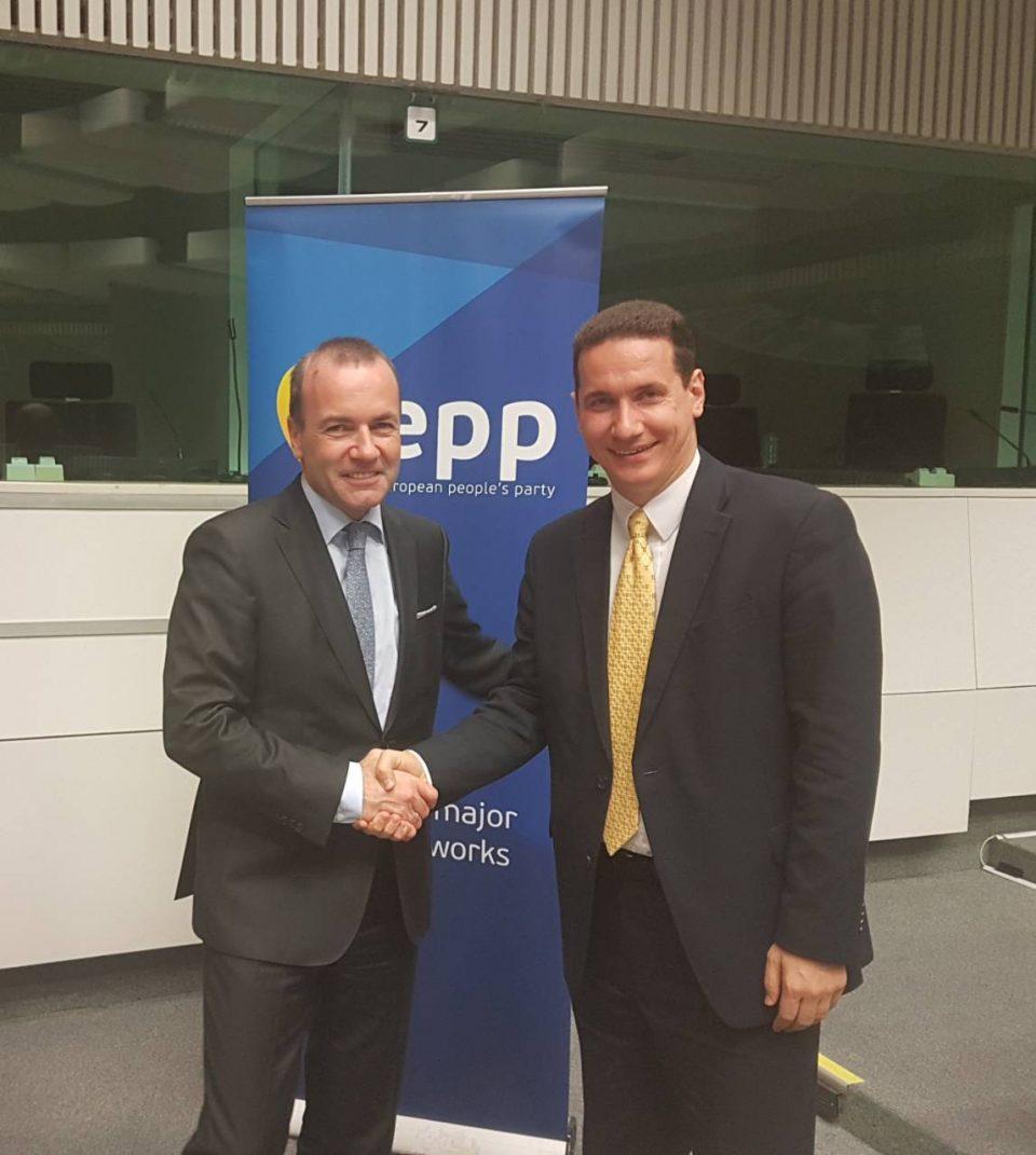 Ѓорчев се сретна со Манфред Вебер, кандидатот на ЦДУ за претседател на Европската комисија и генералениот секретар на ЕПП