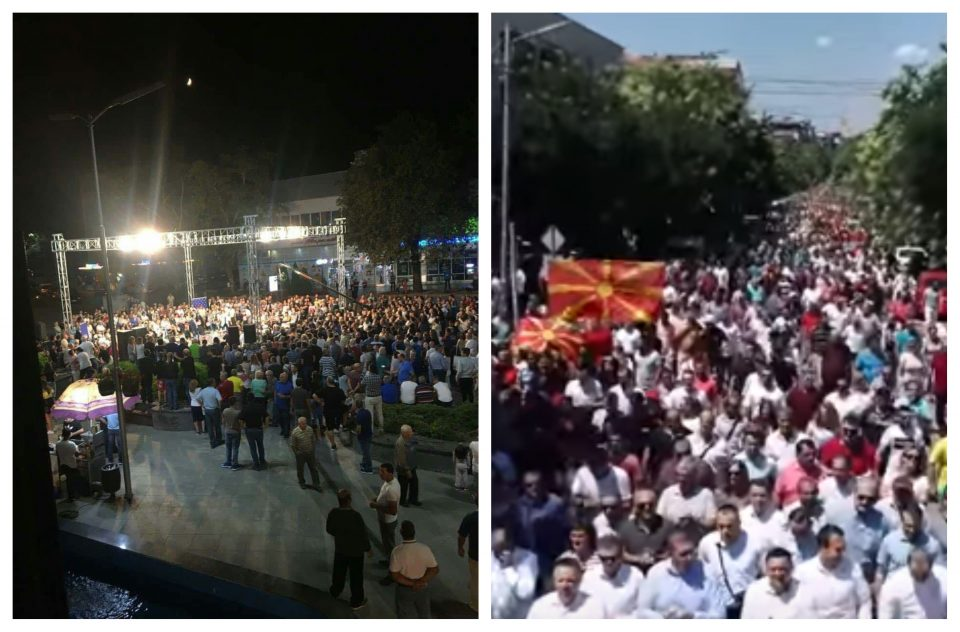 Дебакл наспроти река од народ: Власта без поддршка и во Кавадарци, граѓаните не сакаат промена на уставното име (Фото+Видео)