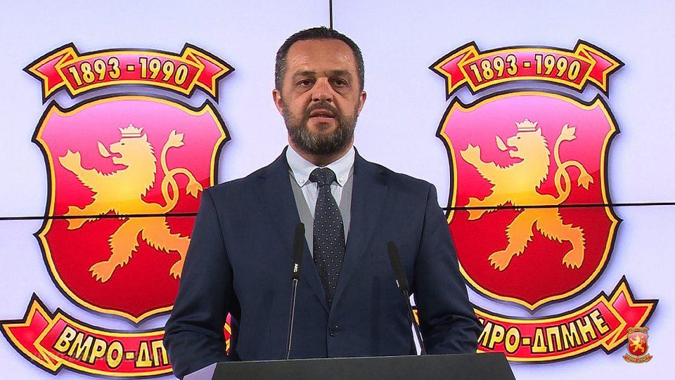 Димовски: ВМРО-ДПМНЕ поднесува Кривични пријави за Заев за поткуп на гласачи