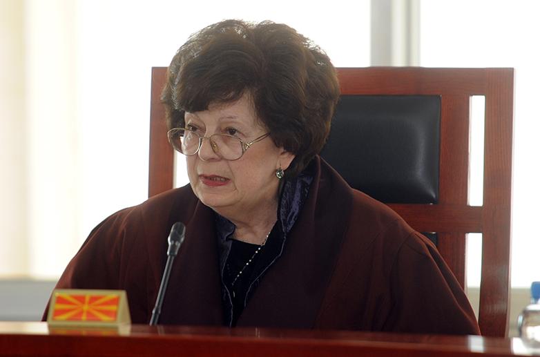 Судијката Гошева предлага Уставниот суд да изрече времена мерка стопирање на сите активности за референдумот