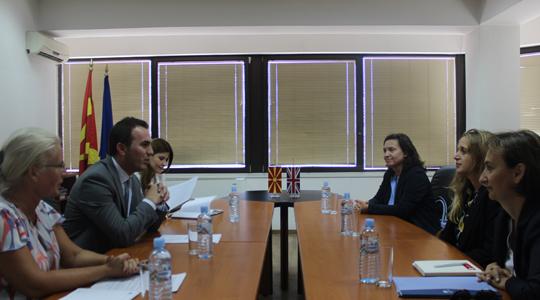 Средба на министерот Адеми со британската амбасадорка Галовеј