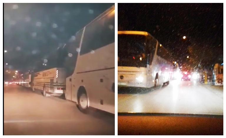 ФОТО: Прилепчани против промена на името, па СДСМ и Заев вечерва од страв донесоа преполни автобуси од другите градови
