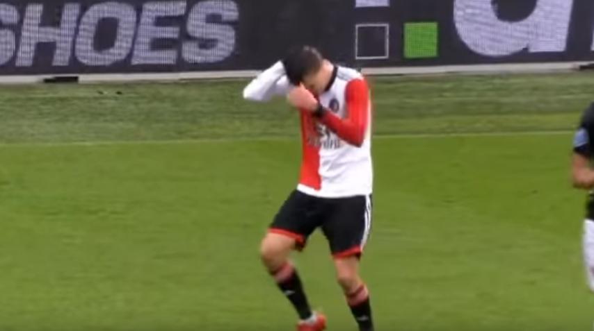 Многу актери може да му завидат: Фудбалерот на Феенорд ги покажа своите актерски способности (ВИДЕО)