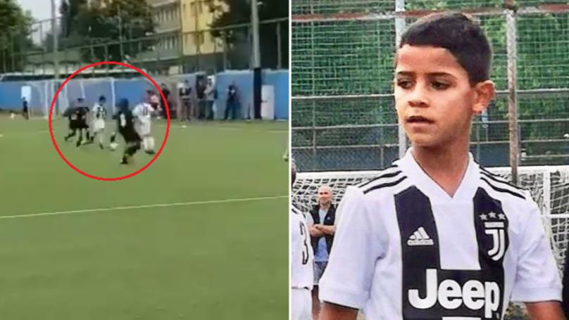 Кога не може татко му, може тој: Синот на Кристијано Роналдо постигна 4 гола на дебито за младиот тим на Јувентус (ВИДЕО)