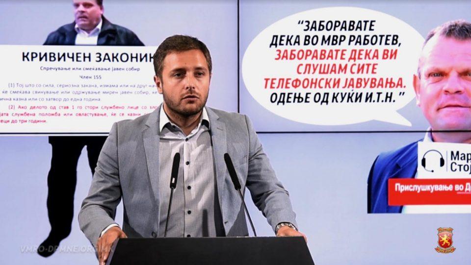 Арсовски: Стојановски да си даде оставка веднаш, му се заканува затвор
