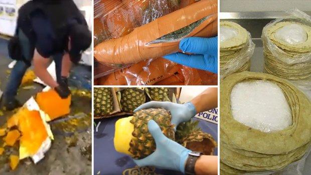 Кокаин во ананас, тортиљи, морков, паста за заби: Еве како криумчарите се обидуваат да ја сокријат дрогата од полицијата (ФОТО+ВИДЕО)