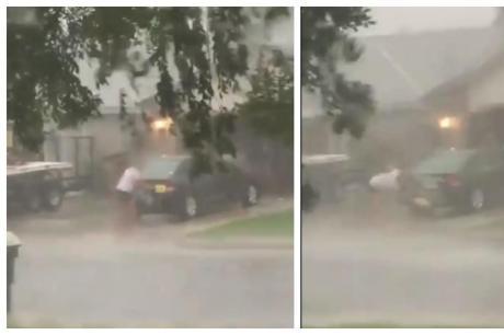 ВИДЕО: Му се смее цела Америка – ја миеше колата додека ураганот носеше се пред себе, а тоа што следуваше ќе ве остави во шок