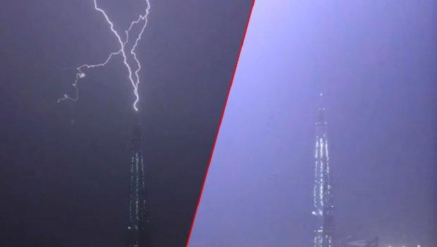 Гром ја погоди највисоката зграда во Европа: Спектакуларна глетка во текот на страшно невреме (ФОТО+ВИДЕО)