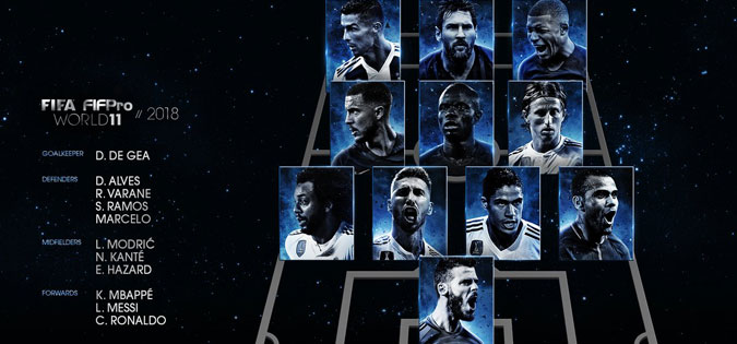 Играчите на Реал Мадрид и Франција доминираат во идеалниот тим за 2018-та