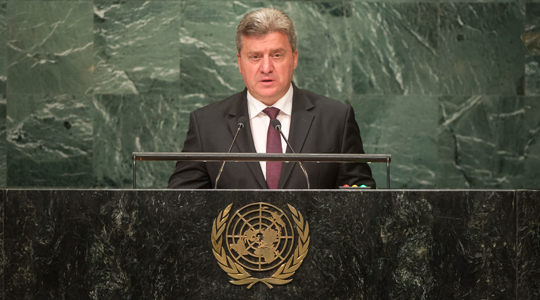 Претседателот Иванов ќе се обрати на Генералното собрание на ОН